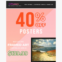 🌻 40% Off Posters: Really spring tings.
