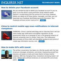 Technology News: How to delete your Facebook account; China to restrict mobile app news notifications in internet clampdown; How to make GIFs with sound
