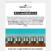 Weekly travel competitions round-up - May 9th
