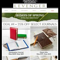 4th Spring Deal: 35% off Premium Journals.