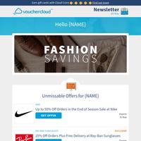Fashion savings! 😎 Footasylum - 20% off • ASOS - 20% off • Crew Clothing - 15% off + more!