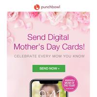 💛🌻 TODAY: Send digital Mother's Day cards! 🌻💛 Deliver instantly.