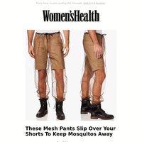 These Mesh Pants Slip Over Your Shorts To Keep Mosquitos Away