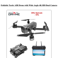 Foldable Tactic AIR Drone with Wide Angle 4K HD Dual Camera