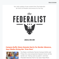 The Federalist Daily Briefing 2021-05-09