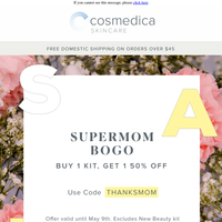 Happy Mother's Day! Supermom BOGO Sale is still on ✨