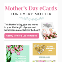 💐 Free Mother's Day Printables & eCards for You!
