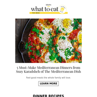 What to Eat: 5 Feel-Good Mediterranean Dinners, \
