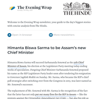 The Evening Wrap: Himanta Biswa Sarma to be Assam's new CM
