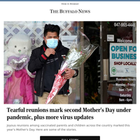 Tearful reunions mark second Mother's Day under pandemic, plus more virus updates