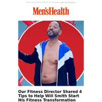 Our Fitness Director Shared 4 Tips to Help Will Smith Start His Fitness Transformation