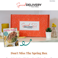 Rediscover cooking with fresh ingredients with the Special Delivery Box.