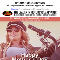 20% Off - Mother's Day Sale!