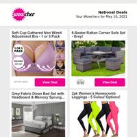 Smart Adjustable Weighted Fitness Hoop | 3pc Rattan Garden Furniture Set | 4 Hotel Striped Pillows £14.99 | 2014/2015 21.5\