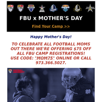 FBU Mother's Day Discount