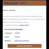 'Confirmation Receipt !Customer No. 654739