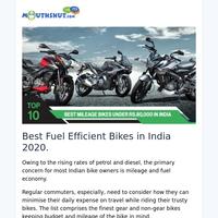 Best Mileage Bikes in India 2021