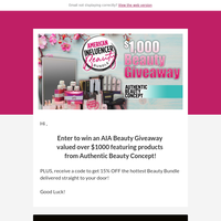 You Could Win a $1,000 Beauty Giveaway!