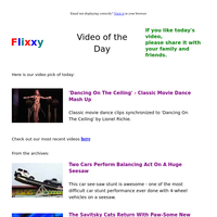 ★ Video of the Day & Quote of the Day - by Flixxy.com - 'Dancing On The Ceiling' - Classic Movie Dance Mash Up