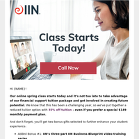 Online Spring Class Starts TODAY [Financial Support Inside]