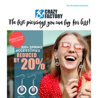 Mid season sale! 💰 Save 20% on spring jewelry, {NAME}