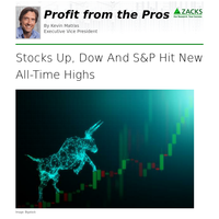 Stocks Up, Dow And S&P Hit New All-Time Highs