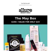 Get Augustinus Bader, Wander Beauty, CosRx & more in the May Allure Beauty Box