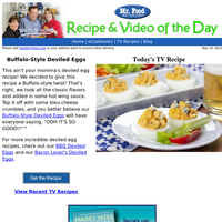 Buffalo-Style Deviled Eggs
