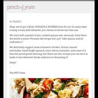 New recipe! ⭐️ Basic + Awesome Chicken Quinoa Salad