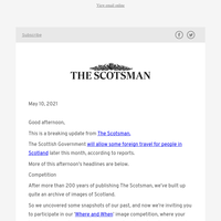 Scottish Government set to allow some foreign travel without quarantine