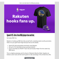 Shop with Rakuten for the win (and free NBA player tee and hat)
