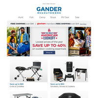 Starting Now! Lowest Prices of the Year on Grills, Griddles & Smokers