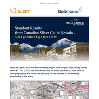 Standout Results from Canadian Silver Co. in Nevada - 3,322 g/t Silver Eq. Over 1.5 M