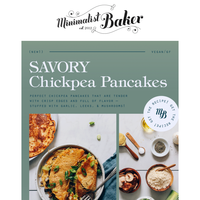NEW! Savory Chickpea Pancakes with Leek and Mushrooms