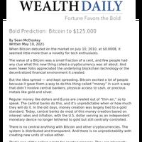 Bold Prediction: Bitcoin to $125,000