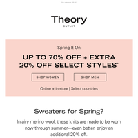 Extra 20% Off Spring Sweaters