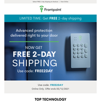Shop, ship and set up home security in 2 days!