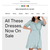 Dresses. On sale. Right now.