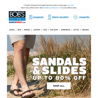 Up to 80% OFF Sandals & Slides
