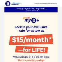 Your unclaimed lifetime offer is inside! 💰