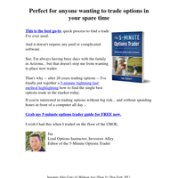 Free Blueprint: How to Find Option Trades in 5 Minutes
