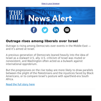 News Alert: Outrage rises among liberals over Israel