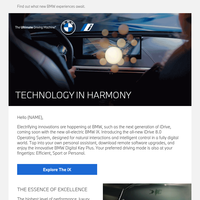 Keep up with exciting BMW news