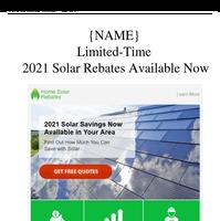 Spring Solar Savings - Rebates Available NOW