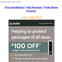 Your Vivint.SmartHome Monitoring offer has arrived