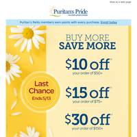 LAST CHANCE - Save an extra $30