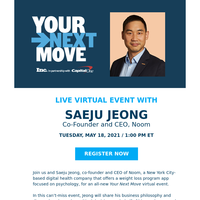 RSVP Today. Build a Mentally & Financially Strong Company with Noom Co-founder and CEO