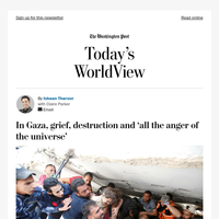 Today's WorldView: Grief and destruction in Gaza