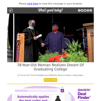 Feel Good Friday: 78-Year-Old Woman Realizes Dream of Graduating College