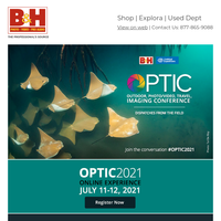 Register Today!  OPTIC 2021 - Outdoor, Photo/Video, Travel, Imaging Conference